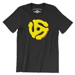 45 Record Adapter T-Shirt - Lightweight Vintage Style