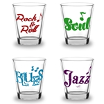 Rock Soul Blues Jazz Shot Glass 4-Pack