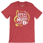 Life Without Music Would B Flat Vintage Tee
