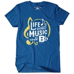 Life Without Music Would B Flat Classic Heavy Cotton T Shirt