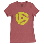 45 Record Adapter Ladies T Shirt