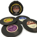 Old Vinyl Record Coaster 4-Pack