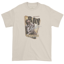 Ray Charles Concert Poster T-Shirt - Classic Heavy Cotton