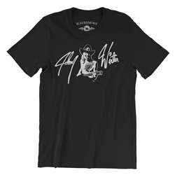 Johnny Winter T-Shirt - Lightweight Vintage Style