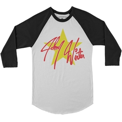 Johnny Winter 80s Tour Raglan Baseball T-Shirt