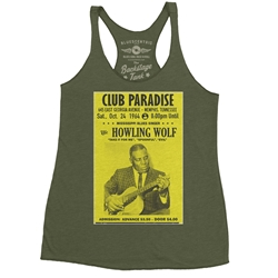 Howlin Wolf at Club Paradise Racerback Tank - Women's