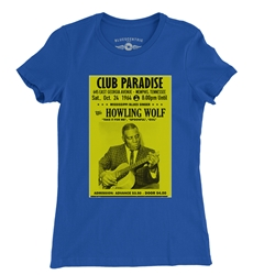 Howlin Wolf at Club Paradise Ladies T Shirt