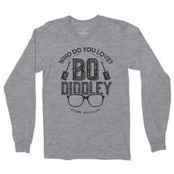 Who Do You Love Bo Diddley Long Sleeve T Shirt