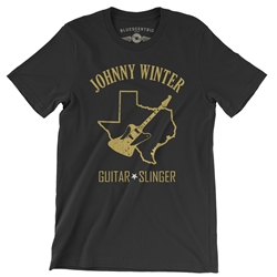 Texas Johnny Winter T Shirt - Lightweight Vintage Style