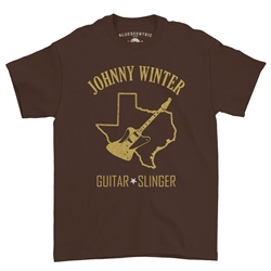 Texas Johnny Winter T-Shirt - Classic Heavy Cotton