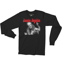 Peace Janis Joplin Long Sleeve T-Shirt