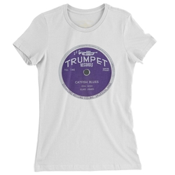 Trumpet Records Catfish Blues Ladies T Shirt