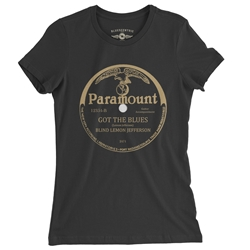 Paramount Records Got The Blues Ladies T Shirt
