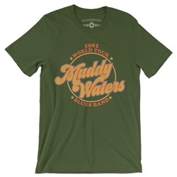 Muddy Waters Blues Band T-Shirt - Lightweight Vintage Style