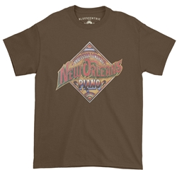 Professor Longhair New Orleans Piano T-Shirt - Classic Heavy Cotton