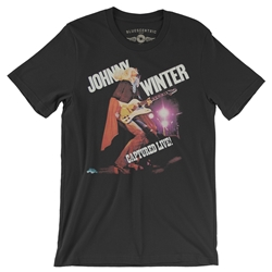 Johnny Winter Captured Live T-Shirt - Lightweight Vintage Style