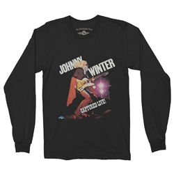 Johnny Winter Captured Live Long Sleeve T-Shirt