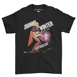 Johnny Winter Captured Live T-Shirt - Classic Heavy Cotton