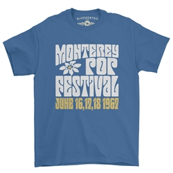Monterey Pop Festival Flower T-Shirt - Classic Heavy Cotton