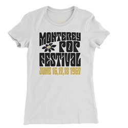 Monterey Pop Festival Flower Ladies T Shirt