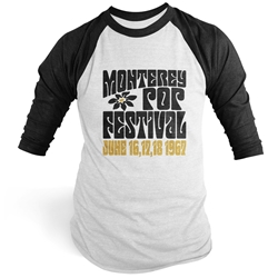 Monterey Pop Festival Flower Baseball T-Shirt