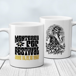 Monterey Pop Festival Flower Coffee Mug