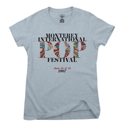 Small Batch Monterey Pop Festival Ladies T Shirt - Hippie Edition