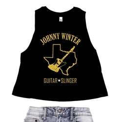 Texas Johnny Winter Racerback Crop Top - Women's