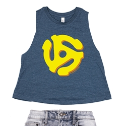 45 Vinyl Record Adapter Racerback Crop Top - Women's
