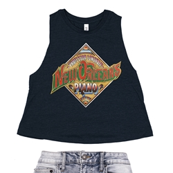 Professor Longhair New Orleans Piano Racerback Crop Top - Women's