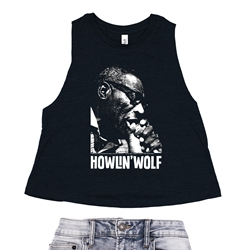 Howlin Wolf Racerback Crop Top - Women's