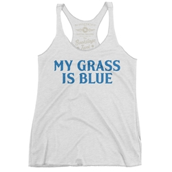 My Grass Is Blue Racerback Tank - Women's