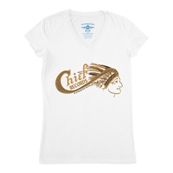 Chief Records V-Neck T Shirt - Women's