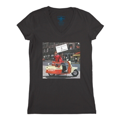 Bo Diddley Have Guitar Will Travel Ladies V-Neck T Shirt