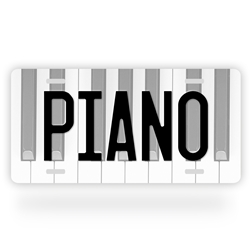 Aluminum Piano License Plate