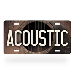 Acoustic Guitar License Plate