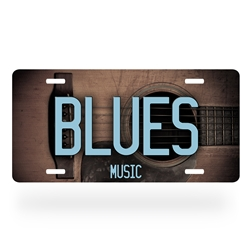 Blues Music License Plate