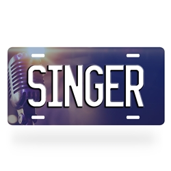 Aluminum Singer License Plate