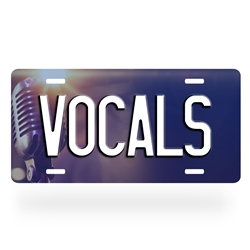 Aluminum Vocalist License Plate