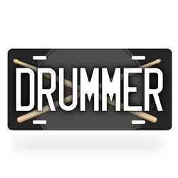 Aluminum Drummer License Plate