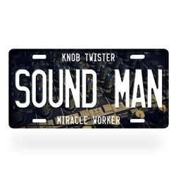 Sound Man License Plate