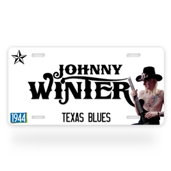 Johnny Winter License Plate
