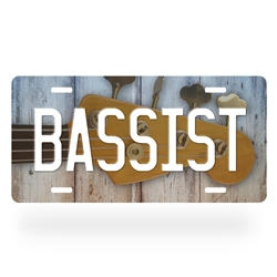 Bass player License Plate