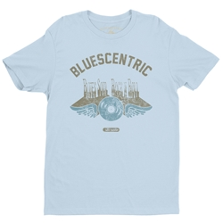 Bluescentric Blues Soul Rock n Roll T-Shirt - Lightweight Vintage Style