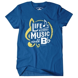 Life Without Music Would B Flat Vintage T Shirt