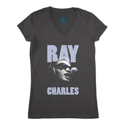 Ray Charles V-Neck T Shirt - Women's