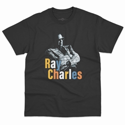 Ray Charles Stereo T-Shirt - Classic Heavy Cotton