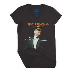 Ray Charles Doing His Thing V-Neck T Shirt - Women's