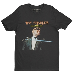 Ray Charles Doing His Thing T-Shirt - Lightweight Vintage Style