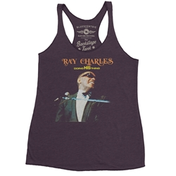 Ray Charles Doing His Thing Racerback Tank - Women's